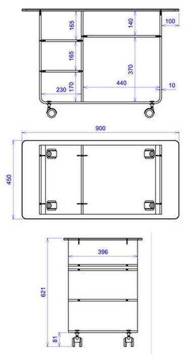 meuble bureau flora david lange decodirect. Black Bedroom Furniture Sets. Home Design Ideas