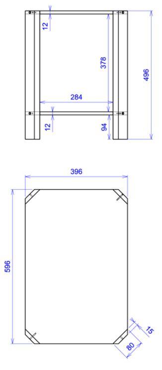 Table de chevet salsa david lange decodirect for Dimensions set de table